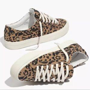 BNWT Madewell sidewalk sneaker in leopard print